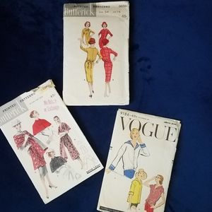 1960's Vogue & Butterick Sewing Patterns
